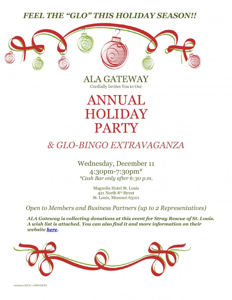 ALA Gateway 2019 Holiday Party Flyer